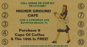 FREE COFFEE CARD BANNER