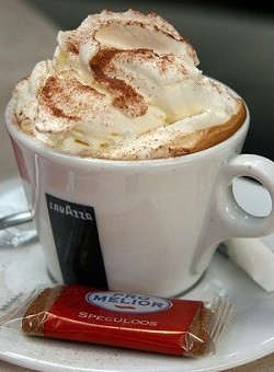 Hot Cappuccino with Whip Cream